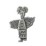 Schutzengel Love Pin Angels welcome versilbert