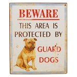 Enamel Sign BEWARE of Dog