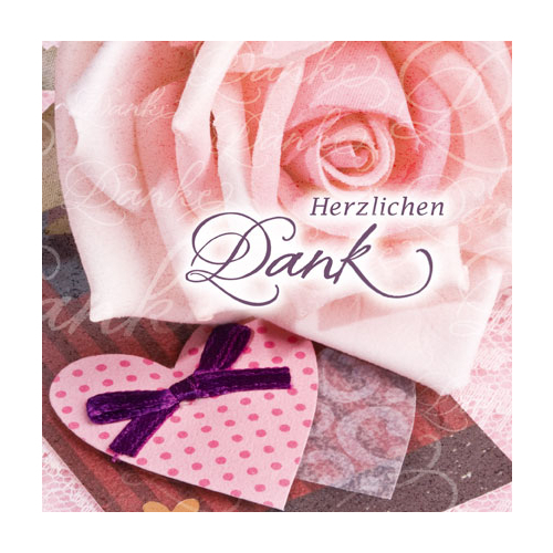 Thank You For Your Order >> Herzlichen Dank - Card By Perleberg - casa rosa gift shop